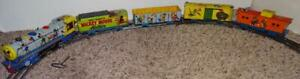 "DISNEY 1950's ""MICKEY MOUSE METEOR TRAIN SET""+BELL+TRACK+WORKS+5 CAR VERSION!"