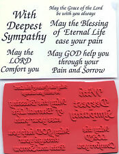 unmounted Religious rubber stamps    Sympathy collection    5 images