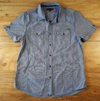GUESS Men's Short Sleeve Button Down Casual Cotton Shirt Size XL