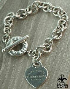 Tiffany & Co. Sterling Silver Heart Tag New York Toggle Link Bracelet