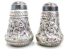 More details for antique/ vintage 925 stamped sterling silver salt & pepper shakers - 185g - w76