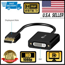 Rankie DP to DVI Adapter DisplayPort to DVI Male to Female Converter Gold Plated