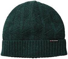 NWT Men's Ben Sherman Textured Beanie Rib Cuff Stables Pine Grove Green Warm Hat