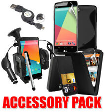 7 X ACCESSORY BUNDLE KIT FOR LG GOOGLE NEXUS 5 + CASE COVER CAR HOLDER CHARGER