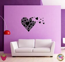 Wall Sticker Hearts Romantic Love Modern Decor for Bedroom z1326