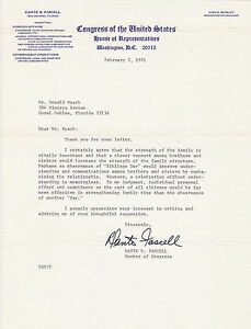 Dante B. Fascell, Florida Congressman, 1971 Signed Letter & Free Frank Cover
