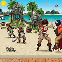 Pirate Party Complete Scene Setter Decoration Backdrop & Props