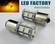 4X Car LED BACKUP REVERSE LIGHT BULB 13 SMD BACK UP BA15S 1156 P21W 1141 Yellow