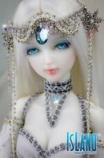 Crystal Islanddoll 1/4 Mini Super Dollfie MSD BJD 45cm girl female Free make up