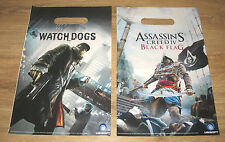 3 x Assassins Creed 4 Black Flag / Watch Dogs promo small Shopping Bag