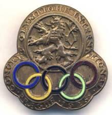 1925 IOC OLYMPIC Congress PARTICIPANT pin BADGE No. 213
