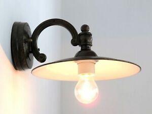 applique per esterno classico rustico lampara da parete marrone piatto smaltato