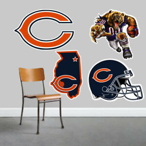 Chicago Bears Wall Art 4 Piece Set Large Size------New in Box------