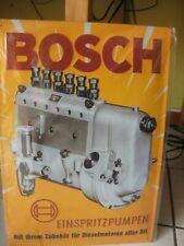 Blechschild gewölbt Bosch Einspritzpumpen  - NEU - 49 cm x 34 cm
