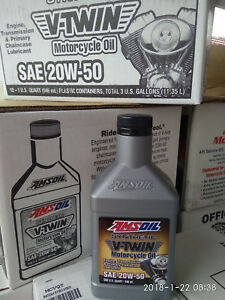 AMSoil MCV 20w50 [ MCVQT-EA ]  V-Twin [ 4 quarts ] 3.78L = 1 USA gallon