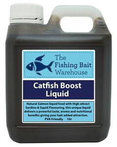 Catfish Boost Liquid Bait 1ltr | Salmon, Squid | Cloudy Fishing Attractant |NEW