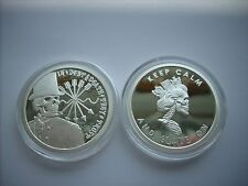 1 OZ SILVER COIN *PROOF* DOUBLE OBVERSE DEBT AND DEATH-SLAVE QUEEN ORIGINAL SBSS