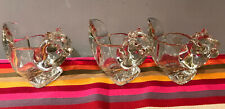 Vintage Avon Squirrel Clear Glass Votive Candle Holders-Set Of 3