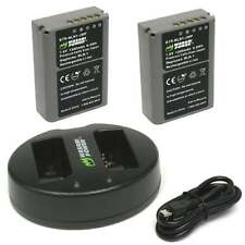 Wasabi Power Battery x 2 & Dual USB Charger for Olympus BLN-1, OM-D E-M5 MARK II