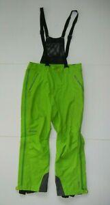 MARMOT Bright Green Waterproof GORE-TEX RAIN BIBS Ski Snowboard Hike Pants Men M