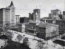 CITY HALL NEW YORK 1900 VINTAGE STORIA vecchia BW foto STAMPA POSTER 435bwb