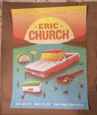 Eric Church 2017 Poster Salt Lake City Vivint Smart Home Arena HoldinMy Own Tour