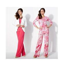 Lot of 2 IMAN GLOBAL CHIC Womens Full Length Palazzo Pants PINK/MULTI Small Avg