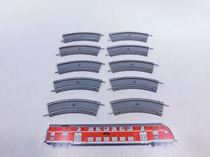 CQ879-0,5# 10x Hamo H0 Gleis/Gleisstück gebogen für Straßenbahn, sehr gut