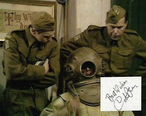 DAD'S ARMY - COLIN BEAN - PRIVATE SPONGE - GENUINE HAND SIGNED CUT + PHOTOGRAPH