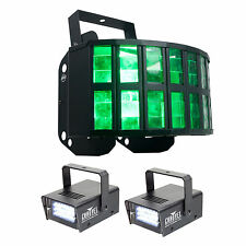 American DJ ADJ AGGRESSOR HEX 6-Color RGBCAW Sound-Activated Light+Strobe Lights