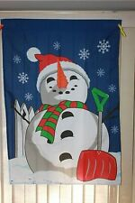 Snowman With Shovel Garden Lawn Flag 40 x 28