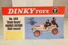 Dinky Toys Poster 486 'Dinky Beats' Morris Oxford in excellent+ condition