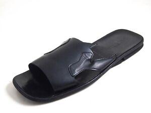 Prada Slides Sandals Black Leather Men Size US 9 EU 42 $580