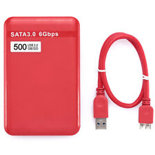 500GB USB 3.0 SATA External Hard Disk Drive HDD 6 Gbps for Laptop/Mac PC US