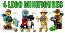4 EXPLORER MIX Lego Minifigures - SEALED ( hiker penguin chameleon new gift )