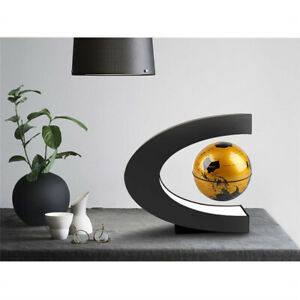 """3"""" Magnetic Floating World Globe C Shape with Stand for Teens Office Senior Home"""