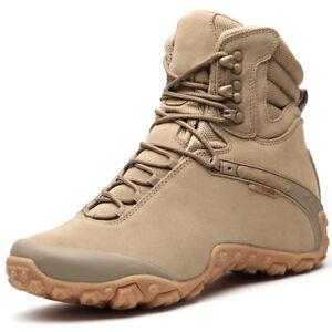 Men Women Outdoor Suede Climbing Boots Waterproof Athletic Hiking Trekking Shoes