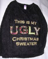 Holiday Time: This Is My Ugly Christmas Sweater. Sz M (8-10) Pullover Black NEW!
