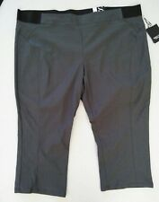 """NEW"" SIMPLY VERA VERA WANG Women's Capris Mid Rise Color Gray~Size 24W"