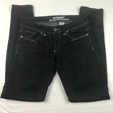 Parasuco Denim Legend Women's size 27 Black Stretch 8-slikz Skinny Jeans
