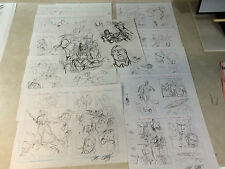 NEW LISTINGTOM STRONG : ROBOTS OF DOOM original art 60 pre-lim pages, CHRIS SPROUSE awesome Comic Art