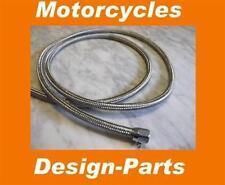 """EDELSTAHL Stahlflex Benzinschlauch Ölschlauch 3/8"""" für Harley und Custom Bikes"""