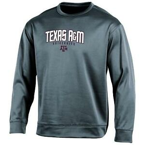 Champion NCAA Texas A&M Aggies Adult Men's LS Crew Neck Fleece Gray M *NWT*