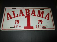 Vintage 1979 University of Alabama National Championship license plate tag