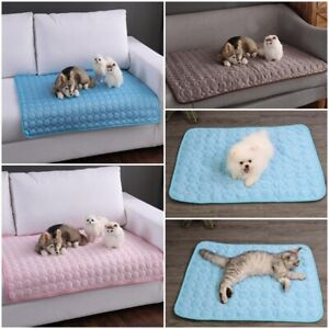 LARGE SELF COOLING COOL GEL MAT PET DOG CAT HEAT RELIEF NON-TOXIC SUMMER S M L