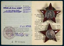 Russia USSR WWII Medal Portfolio Russian Jew Order of Red Star + Medals +COA