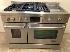 "Jenn-Air JGRP548WP 48"" Professional Gas Range Stove 6 Burners + Griddle"