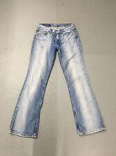 Mujer jeans de Levi 529 'Bootcut' - W28 L32-Azul Marino Descolorido-Excelente Estado