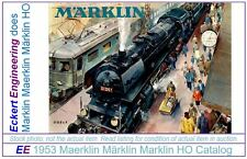 EE 1953 NEW Marklin Catalog D 53 E $ in New Condition