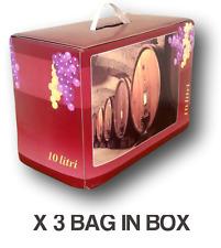 Vino Rosso Tondo Bag in Box lt.10 (3 pz) - Vini sfusi Sardegna -